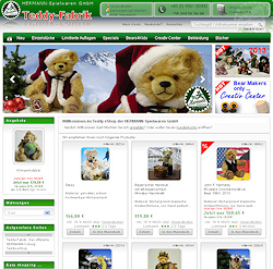 Teddy-Fabrik International Worldwide delivery EURO - GBP - USD